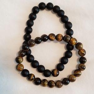 Lava Stone Couple Bracelets